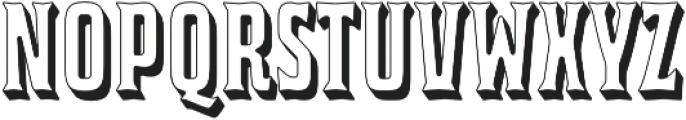 Bourbon House 3D Regular otf (400) Font LOWERCASE