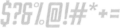 Bourbon Lines Oblique otf (400) Font OTHER CHARS