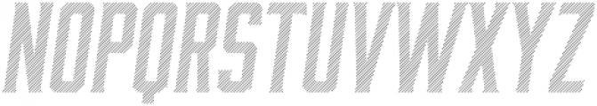 Bourbon Lines Oblique otf (400) Font UPPERCASE