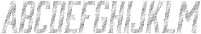 Bourbon Lines Oblique otf (400) Font LOWERCASE