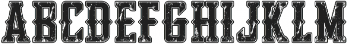 Bourbon Strong Stroke and Tex otf (400) Font LOWERCASE