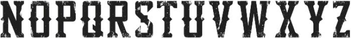 Bourbon Strong Tex otf (400) Font UPPERCASE