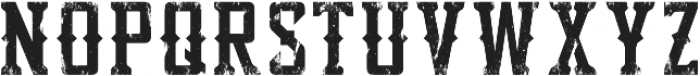 Bourbon Strong Tex otf (400) Font LOWERCASE