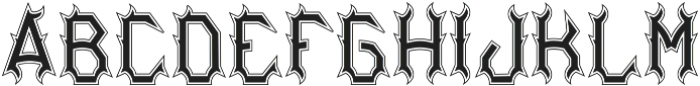 Bourbon04 Inline And Outline otf (400) Font LOWERCASE