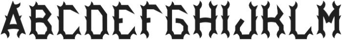 Bourbon04 Regular otf (400) Font LOWERCASE