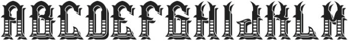 Bourbon05 ShadowAndTexture otf (400) Font UPPERCASE