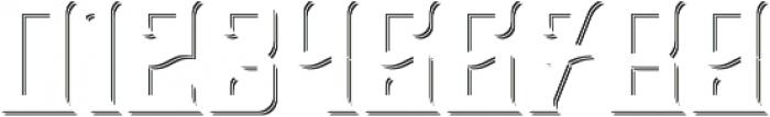 BourbonLabel ShadowFX otf (400) Font OTHER CHARS