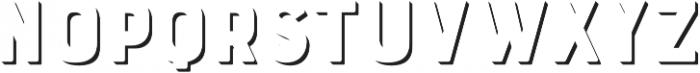 Bourton Drop Extrude Solo otf (400) Font UPPERCASE