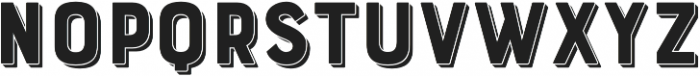 Bourton Drop Extrude otf (400) Font UPPERCASE