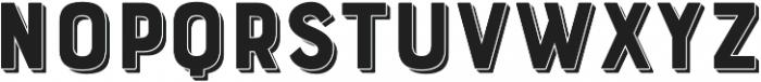 Bourton Drop Extrude otf (400) Font LOWERCASE