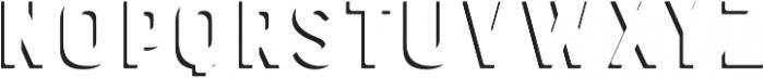 Bourton Drop Shadow Solo otf (400) Font UPPERCASE
