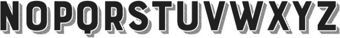 Bourton Drop Stripes B otf (400) Font UPPERCASE