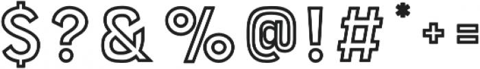 Bourton Outline Bold otf (700) Font OTHER CHARS