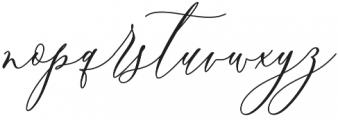Boutinela Script Regular otf (400) Font LOWERCASE
