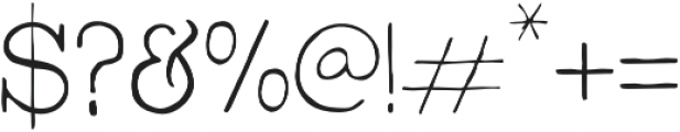 Bowler Hand otf (300) Font OTHER CHARS