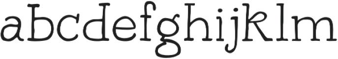 Bowler Hand otf (300) Font LOWERCASE