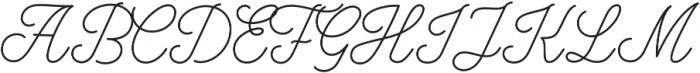 Bowline Script otf (100) Font UPPERCASE