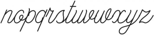 Bowline Script otf (100) Font LOWERCASE