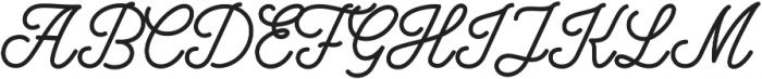 Bowline Script otf (400) Font UPPERCASE