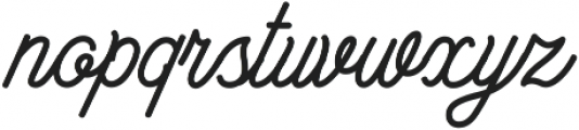 Bowline Script otf (400) Font LOWERCASE