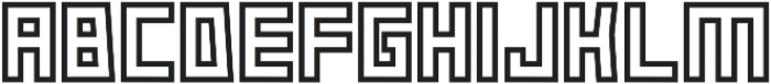 Box-Outline otf (400) Font LOWERCASE