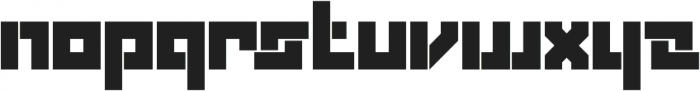 Box Solid otf (400) Font LOWERCASE