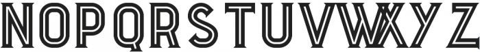 Boxer Inline otf (400) Font LOWERCASE