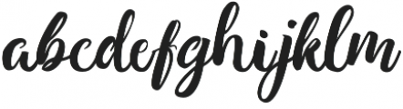 bougainvillea otf (400) Font LOWERCASE