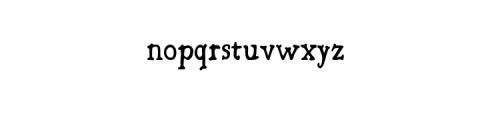 Bold Riley handmade serif typeface Font LOWERCASE