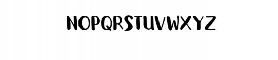 BookWorm.otf Font UPPERCASE