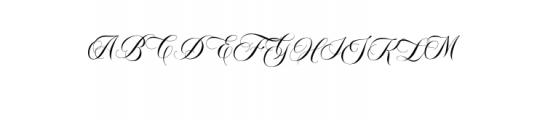 Bordemile Script.otf Font UPPERCASE