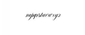 Bordemile Script.otf Font LOWERCASE