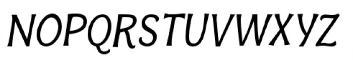 Bonobo Italic Font UPPERCASE