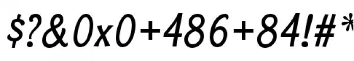 Bonobo Semi Bold Italic Font OTHER CHARS