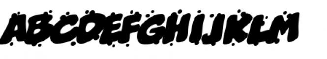 Boogers BB Sneeze Italic Font UPPERCASE