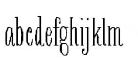 Bookeyed Nelson Font LOWERCASE