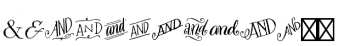 Bookeyed Sadie Ampersands Font UPPERCASE