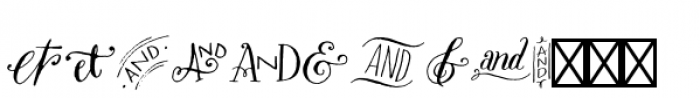 Bookeyed Sadie Ampersands Font LOWERCASE
