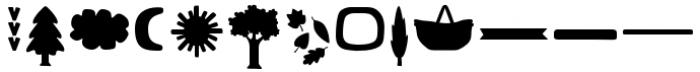 Bosque DIngbats Font LOWERCASE