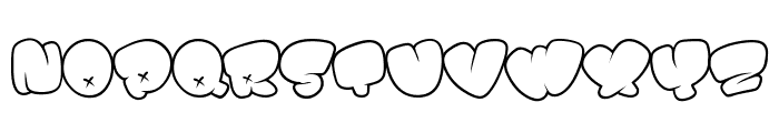 BOMB FONT Font UPPERCASE