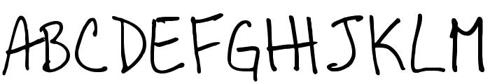 BoBsFrAnTiC True Type Font UPPERCASE