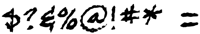 BobTag Font OTHER CHARS