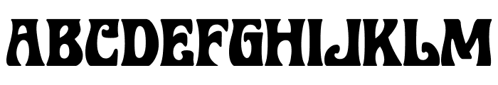 BobbiTheHippie Font UPPERCASE