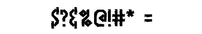 Bocuma Angle Dent BRK Font OTHER CHARS