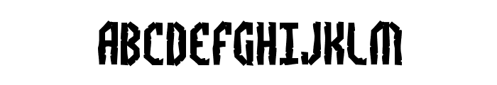 Bocuma Angle Dent BRK Font UPPERCASE