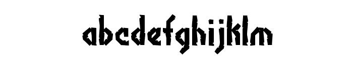 Bocuma Angle Dent BRK Font LOWERCASE