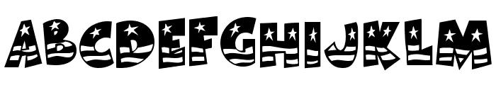 BodieMF Flag Font LOWERCASE