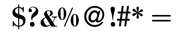 BodinSmall Bold Font OTHER CHARS