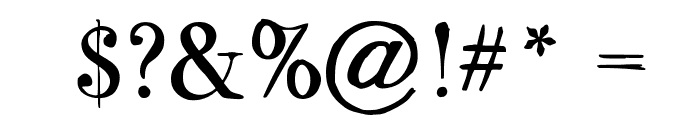 BodoFlo Font OTHER CHARS