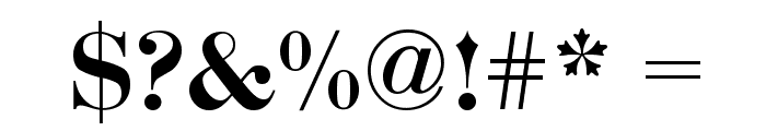 Bodoni-Bold Font OTHER CHARS